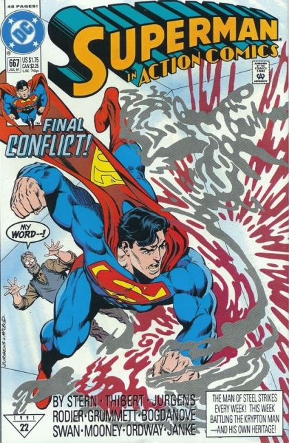 Action Comics, Vol. 1 #667 - The Final Chapter Conditie: Goed DC 1