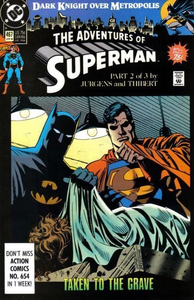 The Adventures of Superman #467A - Dark Knight Over Metropolis Part 2 Conditie: Goed DC 1