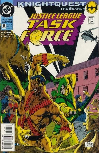 Justice League Task Force #6 - Knightquest: The Search part 2 Conditie: Goed DC 1