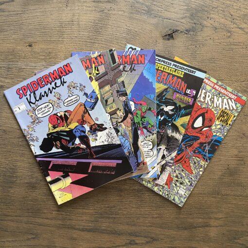 Set 5x Nederlandstalige Spider-Man Juniorpress Conditie: Tweedehands, redelijk Juniorpress 1