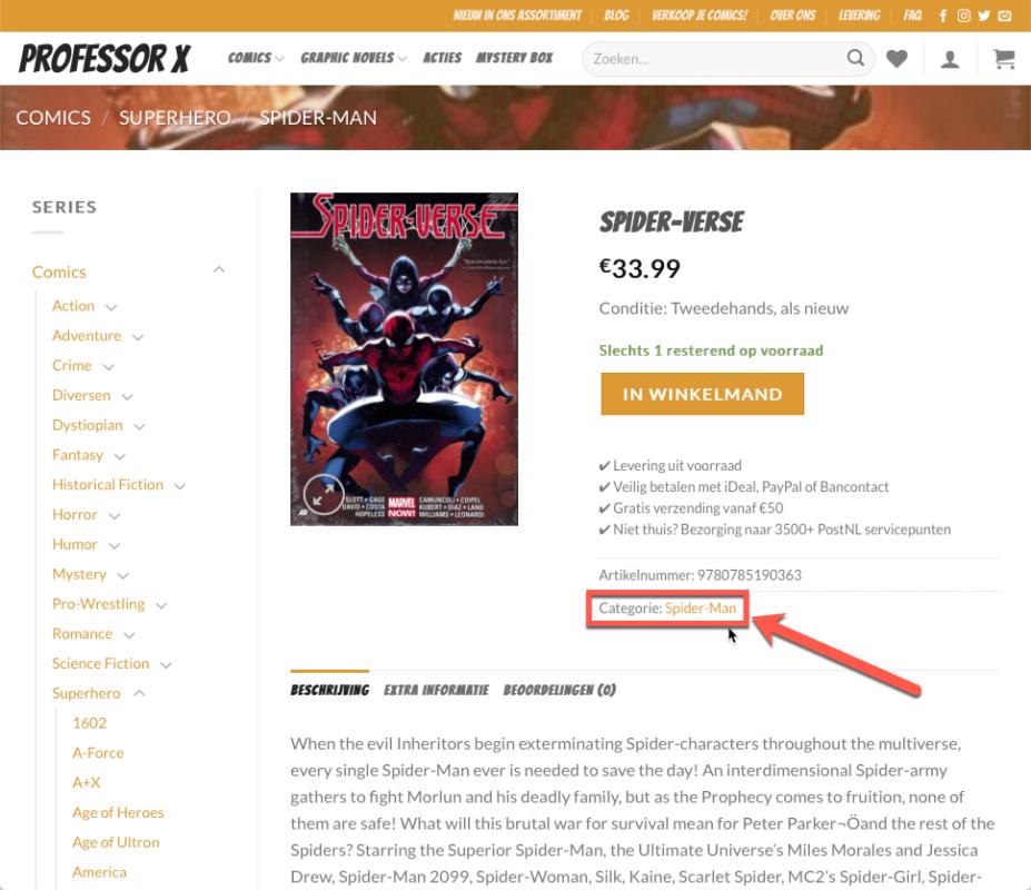 Hoe vind ik mijn comics en graphic novels op ProfessorX.nl? 5