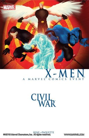Civil War: X-Men Conditie: Tweedehands, redelijk.Het boek zelf is in uitstekende conditie (nieuwstaat). De kaft is echter niet helemaal goed geprint, waardoor het Marvel logo en de rest van de zijkant grotendeels op de achterkant staan. Marvel 1
