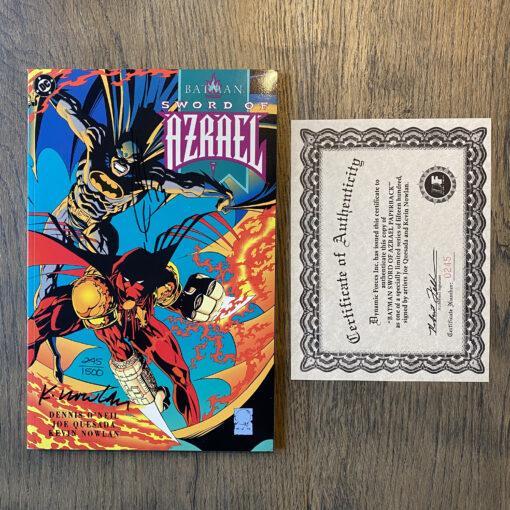 Batman: Sword of Azrael Volume 1 - Authographed Limited Edition (245/1500) with Certificate of Authenticity Conditie: Nieuw, inclusief handtekening en certificaat (zie afbeeldingen) DC 2