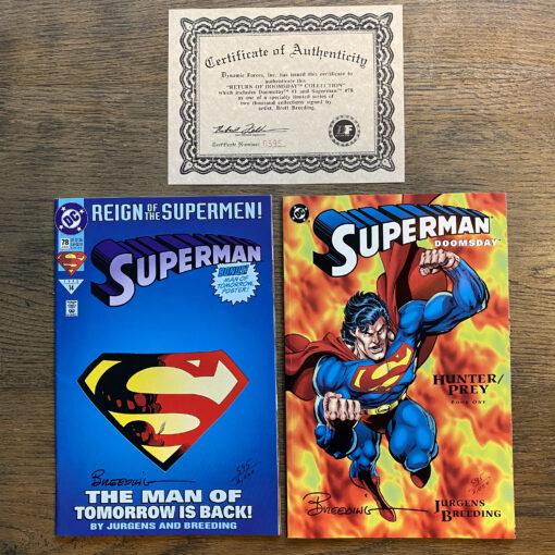 Superman Doomsday - Return of Doomsday Collection - Authographed Limited Edition (595/2000) with Certificate of Authenticity Conditie: Nieuw, inclusief handtekening en certificaat (zie afbeeldingen) DC 2