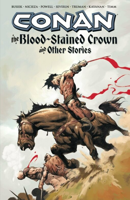 Conan (Dark Horse) Volume 5: Blood-Stained Crown and Other Stories Conditie: Tweedehands, als nieuw Dark Horse 1